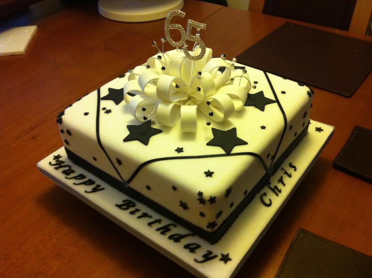65th Birthday Cake Cakes By Sheila